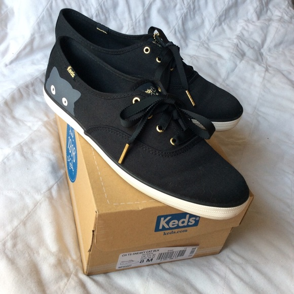 """08906d82586af Keds Shoes - Taylor Swift """"Sneaky Cat"""" Sneakers w Gold Details"""